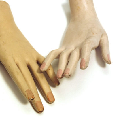 A pair of mannequin hands.