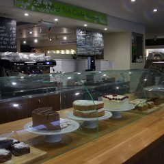 The cake counter at Cafe 68, York Castle Museum