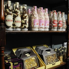 A range of confectionery in the York Castle Museum shop.