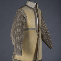 Side view of cavalryman's buff coat